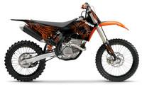 polepy 'Spider' na motorku KTM