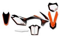 polepy 'Tiger' na motorku KTM
