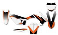 polepy 'ZebRash' na motorku KTM