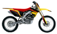 polepy 'RedDart2' na motorku SUZUKI